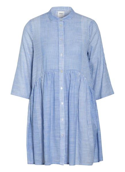 ONLY Hemdblusenkleid mit 3/4-Arm, Farbe: HELLBLAU/ WEISS (Bild 1)