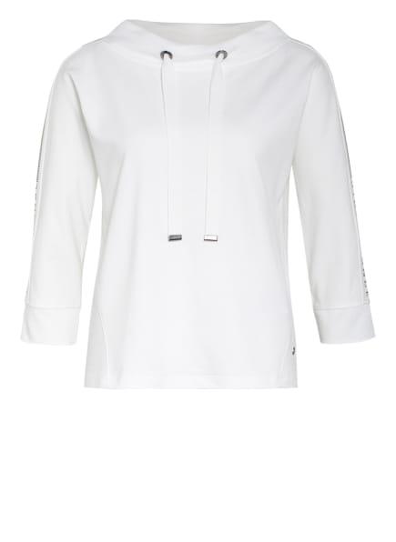 monari Sweatshirt mit Schmucksteinbesatz, Farbe: WEISS (Bild 1)