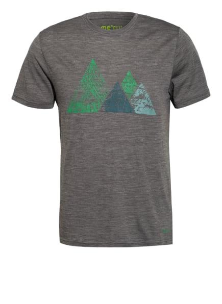 me°ru' T-Shirt TUMBA mit Merinowolle, Farbe: GRAU/ GRÜN/ PETROL (Bild 1)