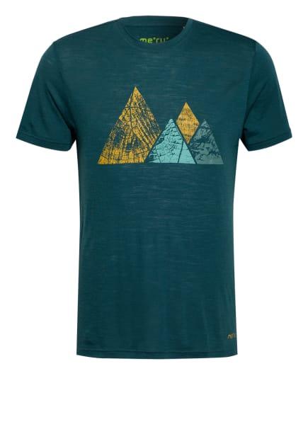 me°ru' T-Shirt TUMBA mit Merinowolle, Farbe: PETROL/ MINT/ DUNKELGELB (Bild 1)