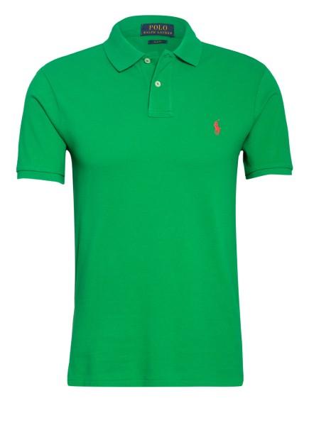 POLO RALPH LAUREN Piqué-Poloshirt Slim Fit, Farbe: GRÜN (Bild 1)