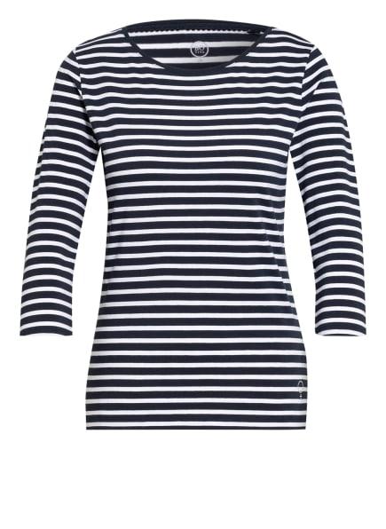 BOVIVA Shirt mit 3/4-Arm, Farbe: WEISS/ BLAU (Bild 1)