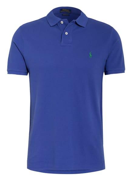 POLO RALPH LAUREN Piqué-Poloshirt Custom Slim Fit, Farbe: BLAU (Bild 1)