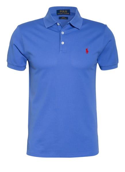 POLO RALPH LAUREN Piqué-Poloshirt Slim Fit, Farbe: BLAU (Bild 1)