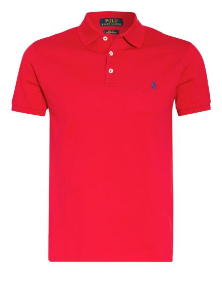 POLO RALPH LAUREN Piqué-Poloshirt Slim Fit, Farbe: ROT (Bild 1)