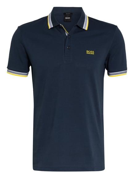 BOSS Piqué-Poloshirt PADDY Regular Fit, Farbe: DUNKELBLAU/ WEISS/ GELB (Bild 1)