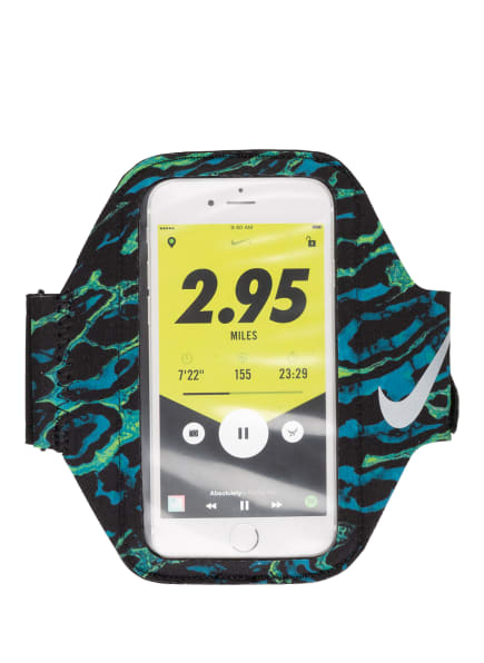 Nike Smartphone-Laufarmband LEAN, Farbe: SCHWARZ/ NEONGRÜN/ TÜRKIS (Bild 1)