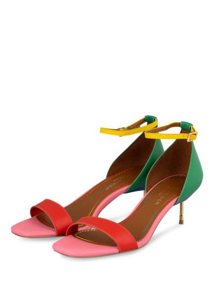 KURT GEIGER Sandaletten BIRCHIN, Farbe: ROT/ GRÜN/ ROSA (Bild 1)