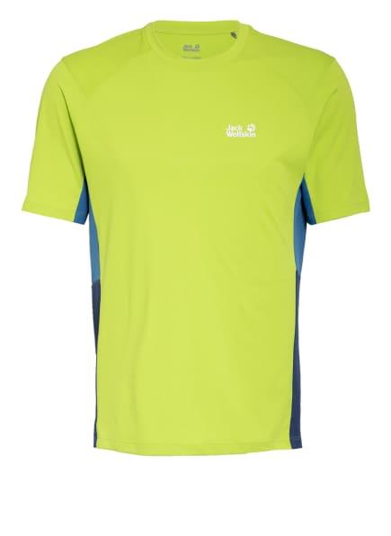 Jack Wolfskin T-Shirt NARROWS, Farbe: HELLGRÜN/ BLAU (Bild 1)
