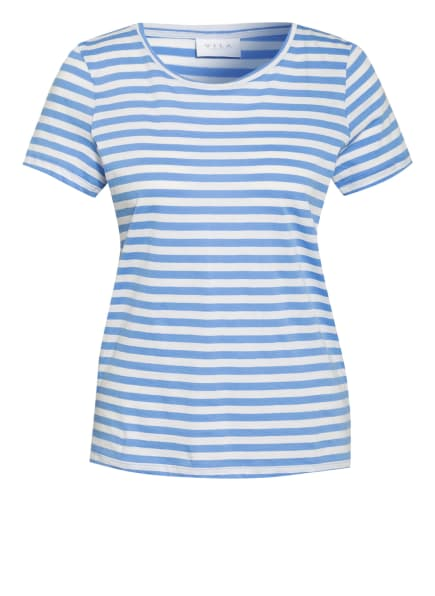 VILA T-Shirt, Farbe: HELLBLAU/ WEISS (Bild 1)