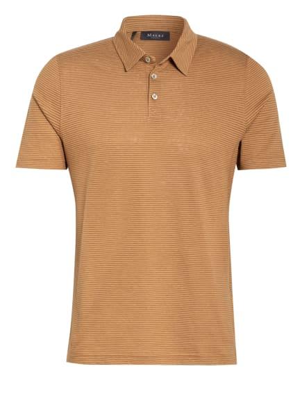 MAERZ MUENCHEN Jersey-Poloshirt mit Leinen , Farbe: CAMEL (Bild 1)