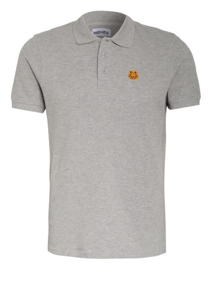 KENZO Piqué-Poloshirt TIGER CREST, Farbe: GRAU (Bild 1)