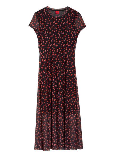 HUGO Kleid NIMANA, Farbe: SCHWARZ/ ROT (Bild 1)