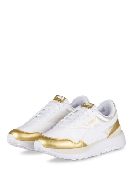 PUMA Plateau-Sneaker CRUISE RIDER, Farbe: ECRU/ GOLD (Bild 1)
