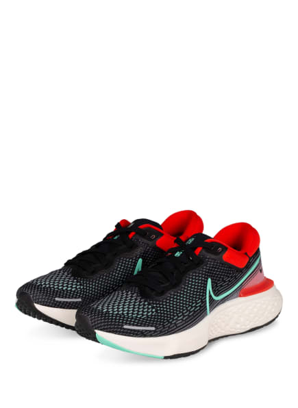 Nike Laufschuh ZOOMX INVINCIBLE RUN FLYKNIT, Farbe: SCHWARZ/ MINT/ ROT (Bild 1)