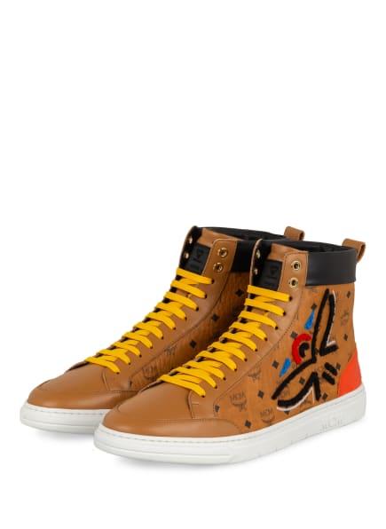 MCM Hightop-Sneaker, Farbe: COGNAC/ SCHWARZ (Bild 1)