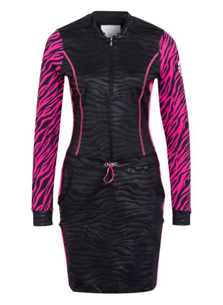SPORTALM Kleid mit Shorts, Farbe: SCHWARZ/ NEONPINK (Bild 1)