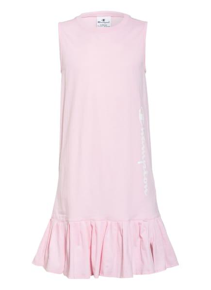 Champion Jerseykleid mit Volantbesatz, Farbe: HELLROSA (Bild 1)