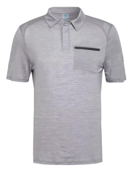 odlo Funktions-Poloshirt CONCORD NATURAL mit Merinowolle, Farbe: GRAU/ HELLGRAU/ DUNKELGRAU (Bild 1)