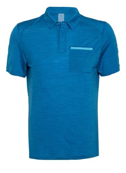 odlo Funktions-Poloshirt CONCORD NATURAL mit Merinowolle, Farbe: BLAU (Bild 1)
