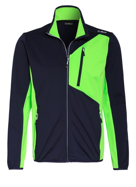 CMP Softshell-Jacke, Farbe: DUNKELBLAU/ HELLGRÜN (Bild 1)