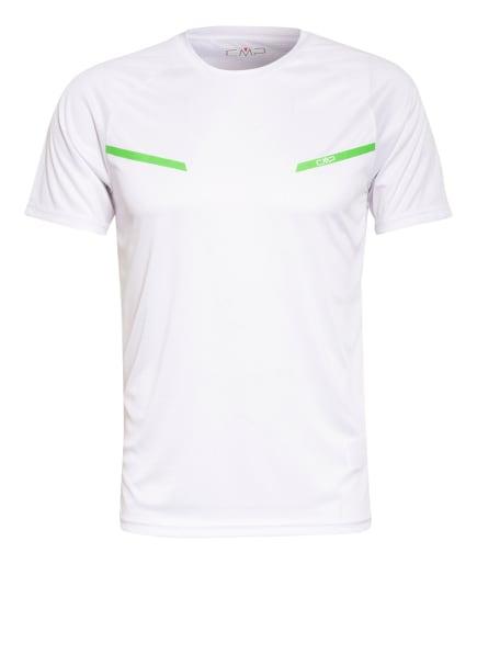 CMP T-Shirt mit UV-Schutz 30, Farbe: WEISS/ HELLGRÜN (Bild 1)