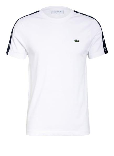 LACOSTE T-Shirt mit Galonstreifen, Farbe: WEISS/ DUNKELBLAU (Bild 1)