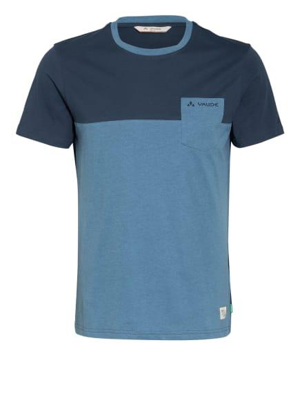 VAUDE T-Shirt NEVIS, Farbe: PETROL/ HELLBLAU (Bild 1)
