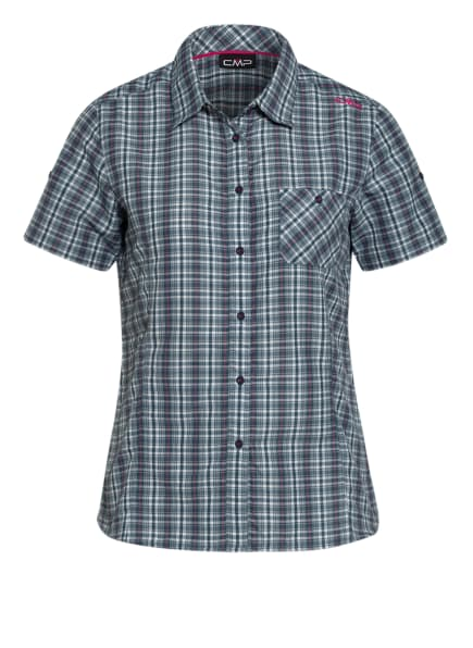 CMP Outdoor-Bluse, Farbe: PETROL/ WEISS/ PINK (Bild 1)