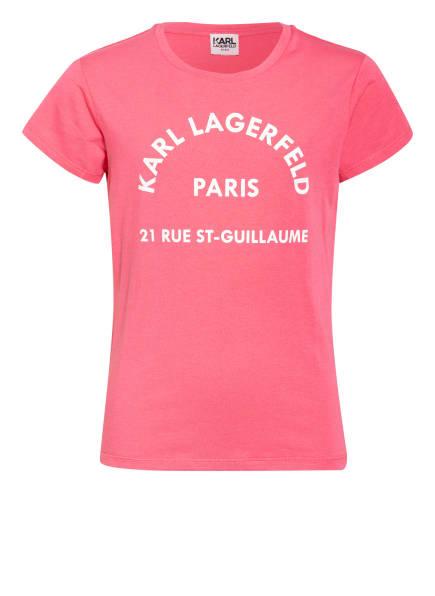 KARL LAGERFELD KIDS T-Shirt, Farbe: PINK/ WEISS (Bild 1)