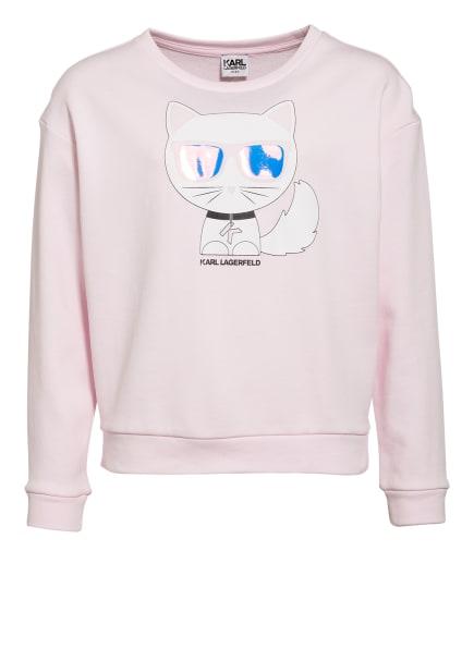 KARL LAGERFELD KIDS Sweatshirt, Farbe: HELLROSA (Bild 1)