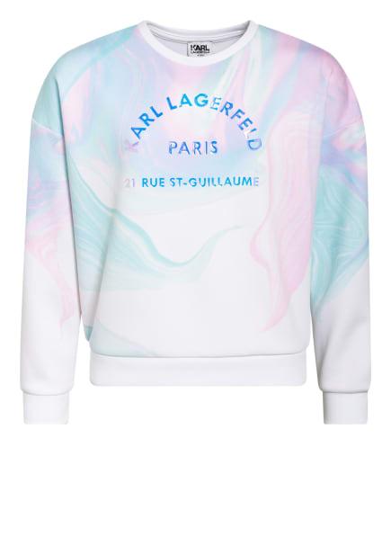 KARL LAGERFELD KIDS Sweatshirt, Farbe: WEISS/ HELLBLAU/ HELLROSA (Bild 1)