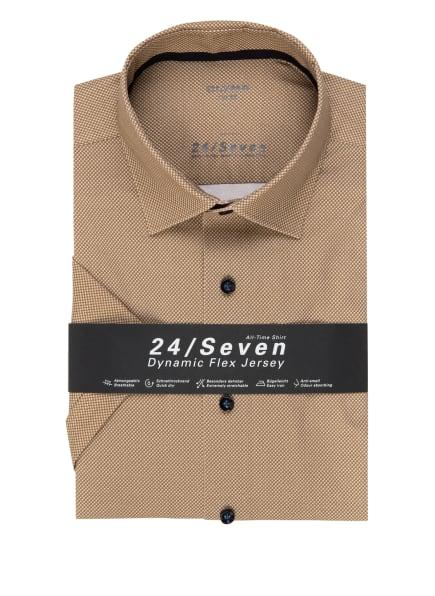 OLYMP Kurzarm-Hemd Luxor 24/7 modern fit, Farbe: HELLBRAUN/ CAMEL (Bild 1)