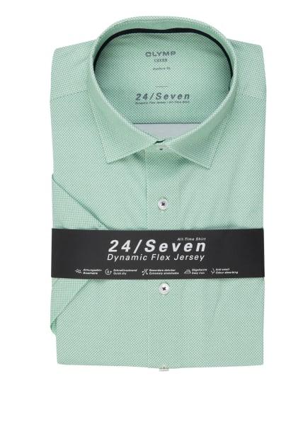 OLYMP Kurzarm-Hemd Luxor 24/7 modern fit, Farbe: HELLGRÜN/ WEISS (Bild 1)