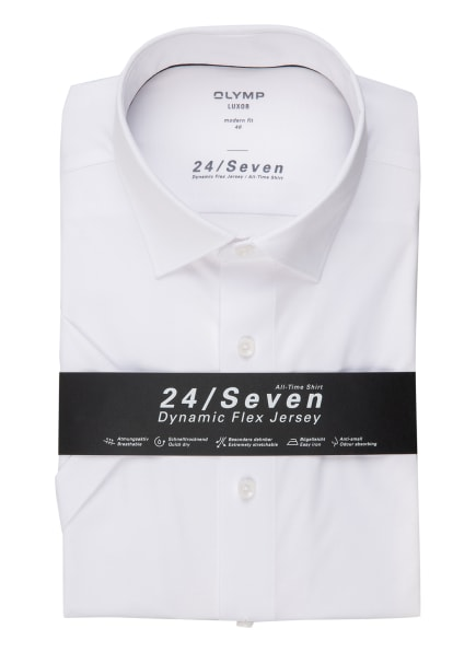 OLYMP Kurzarm-Hemd Luxor 24/7 modern fit, Farbe: WEISS (Bild 1)