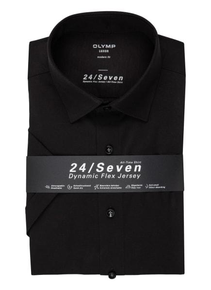 OLYMP Kurzarm-Hemd Luxor 24/7 modern fit, Farbe: SCHWARZ (Bild 1)