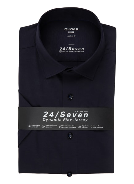 OLYMP Kurzarm-Hemd Luxor 24/7 modern fit, Farbe: DUNKELBLAU (Bild 1)