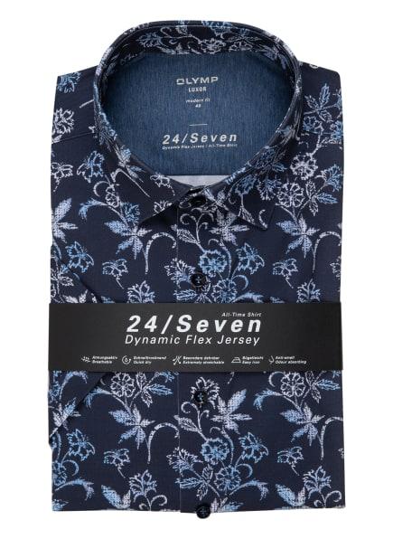 OLYMP Kurzarm-Hemd Luxor 24/7 modern fit, Farbe: BLAU/ WEISS/ HELLBLAU (Bild 1)
