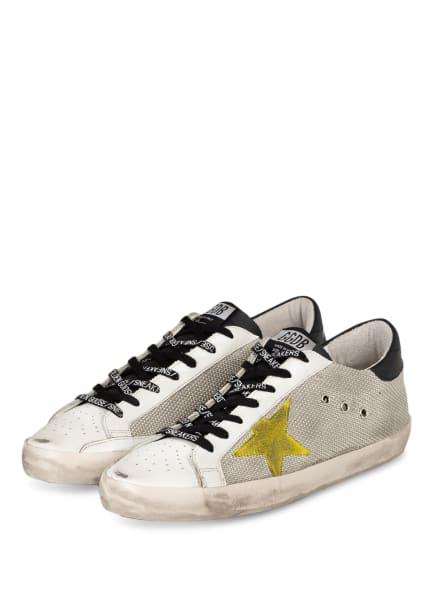 GOLDEN GOOSE Sneaker SUPER STAR, Farbe: WEISS/ DUNKELGELB/ HELLGRAU (Bild 1)