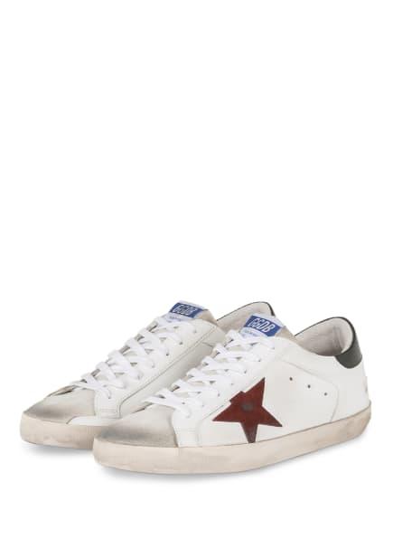 GOLDEN GOOSE Sneaker SUPER-STAR, Farbe: WEISS/ DUNKELGRÜN (Bild 1)
