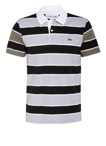LACOSTE Piqué-Poloshirt, Farbe: SCHWARZ/ HELLGRAU/ KHAKI (Bild 1)