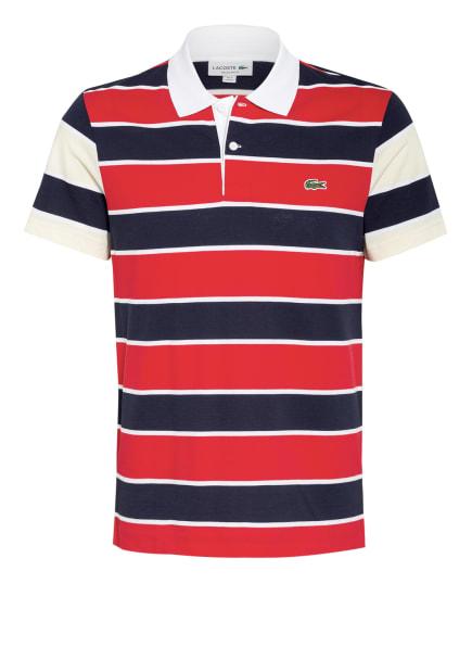LACOSTE Piqué-Poloshirt, Farbe: ROT/ DUNKELBLAU/ WEISS (Bild 1)