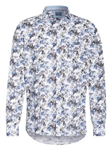 OLYMP Leinenhemd Casual Modern Fit, Farbe: WEISS/ KHAKI/ BLAU (Bild 1)