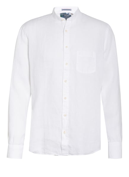 OLYMP Leinenhemd Modern Fit mit Stehkragen, Farbe: WEISS (Bild 1)