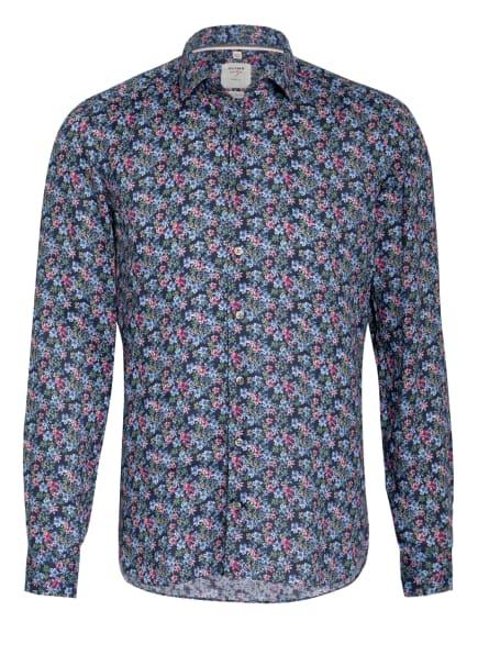 OLYMP Leinenhemd Level Five body fit, Farbe: DUNKELBLAU/ HELLBLAU/ HELLGRÜN (Bild 1)