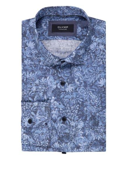 OLYMP SIGNATURE Leinenhemd tailored fit, Farbe: DUNKELGRAU/ HELLBLAU/ WEISS (Bild 1)