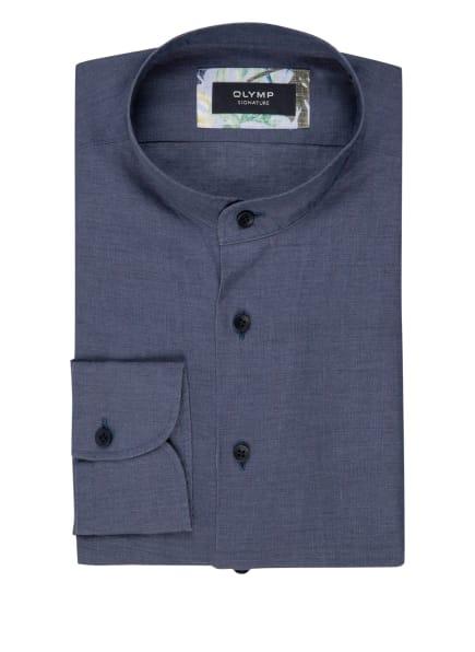 OLYMP SIGNATURE Leinenhemd tailored fit mit Stehkragen, Farbe: DUNKELBLAU (Bild 1)
