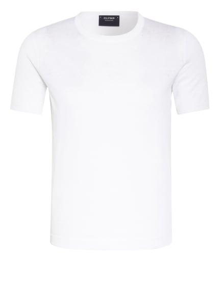 OLYMP SIGNATURE T-Shirt mit Leinen , Farbe: WEISS (Bild 1)