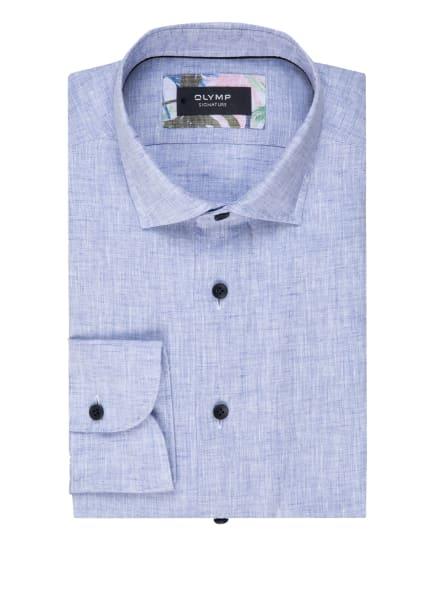 OLYMP SIGNATURE Leinenhemd tailored fit, Farbe: HELLBLAU (Bild 1)