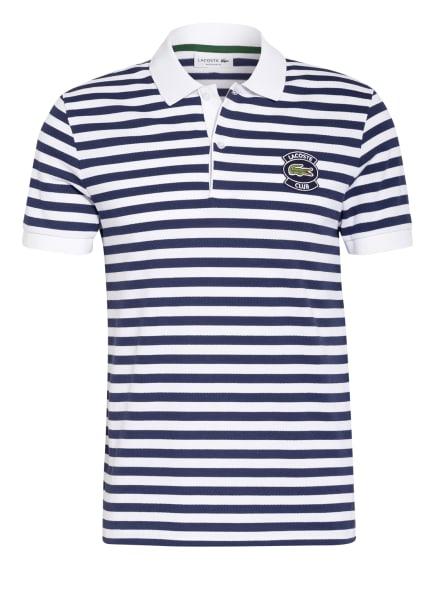 LACOSTE Piqué-Poloshirt Regular Fit, Farbe: DUNKELBLAU/ WEISS (Bild 1)